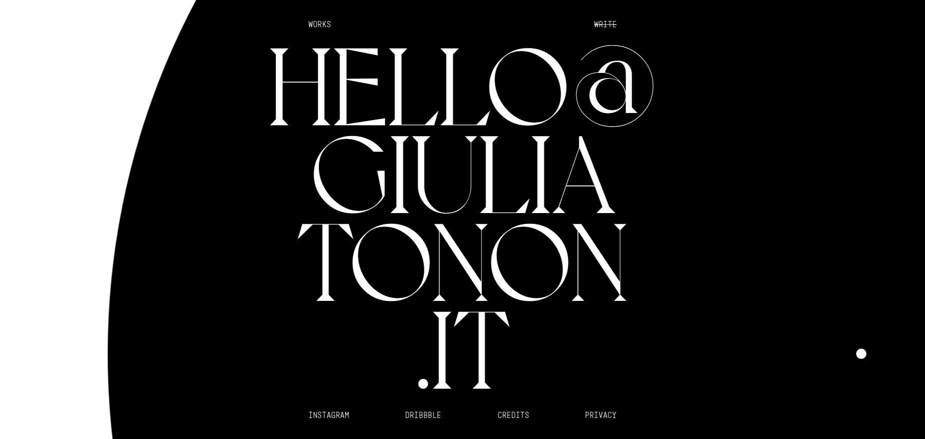 Giulia Tonon - Website of the Day