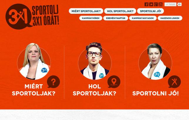 Sportolj 3x1 orat!