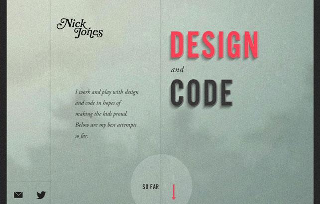 Nick Jones - Design and Code
